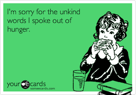 sorry out of hunger